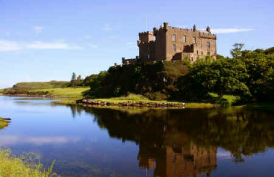 The historic castle at Dunvegan and its gardens are situated on the Isle of Skye