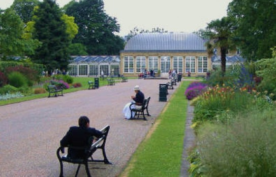 Relaxing in the Sheffield Botanical Gardens